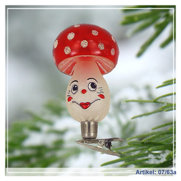 Mushroom/ Fly Agaric with Face