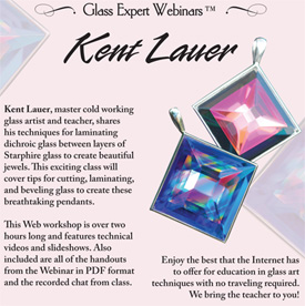 Webinar DVD/ Kent Lauer Faceted Glass Pendants